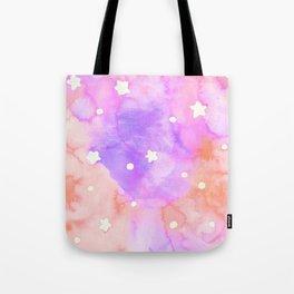 Starry Sky Raspberry Milkshake Tote Bag