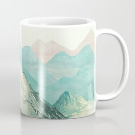 Mountains Landscape Watercolor Coffee Mug