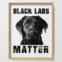 Black Labs Serving Tray