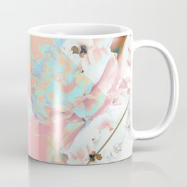 Abstract Blush Geometric Peonies Flowers Design Coffee Mug