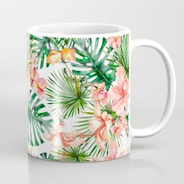 Tropical Jungle Hibiscus Flowers - Floral Coffee Mug