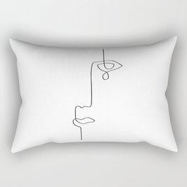 Abstract Eye Tear - Line Art Rectangular Pillow