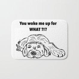 Moody dog Bath Mat