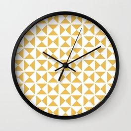 Mustard yellow Mid century Wall Clock