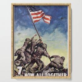 Raising the Flag on Iwo Jima Serving Tray