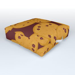 Chocolate chip cookie Outdoor Floor Cushion