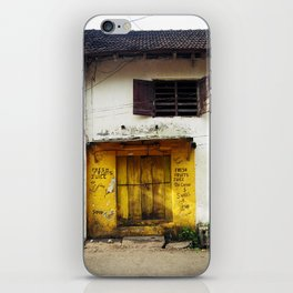 Fort Cochin Door, Fort Cochin, Kerala, India iPhone Skin