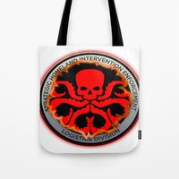 hydra Tote Bags featuring Hail Hydra by Sdog1982