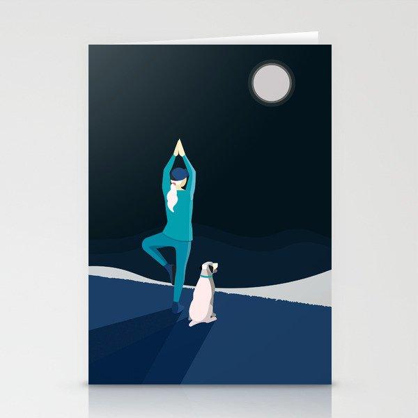Midnight Yoga Stationery Cards