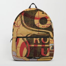Route 66 Vintage Travel Poster Backpack