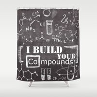 chemistry Shower Curtains featuring Chemistry Geekery by Lburleighdesigns