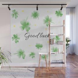 Four leaf clover design,good luck Wall Mural