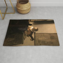 "Johannes Vermeer ""Woman with a Lute near a Window"" Rug"