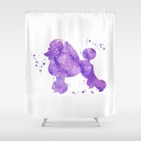 poodle Shower Curtains featuring Poodle by Carma Zoe