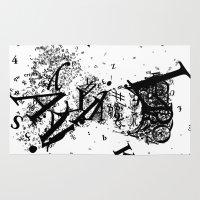 typo Area & Throw Rugs featuring typo Ataturk by omerfarukciftci