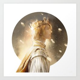 Golden King Art Print