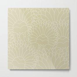 Minimalist Echidna Metal Print