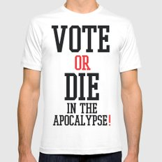Vote Apocalypse MEDIUM Mens Fitted Tee White