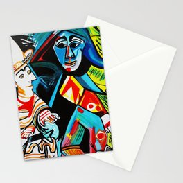 CLOWN AND HARLEQUIN Stationery Cards
