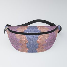 Wibbly Wobbly Circles in Pink Blue and Orange Fanny Pack