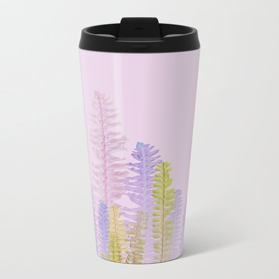 3d nature pink side Metal Travel Mug