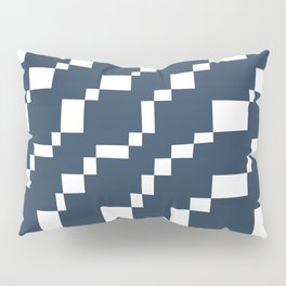 Rectangles 3 | Pattern in Indigo and White Pillow Sham