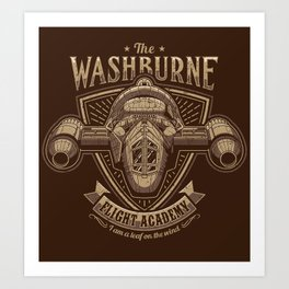 The Washburne Flight Academy Art Print