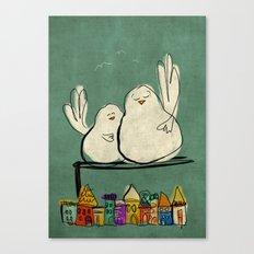 Pigeons Canvas Print
