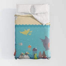 What's going on at the sea? Kids collection Duvet Cover