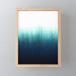 Teal Ombré Framed Mini Art Print