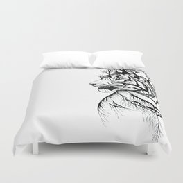 Lady Tiger in the Trees Duvet Cover