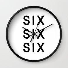 SIX SIX SIX Wall Clock