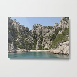 french alcove beach Metal Print