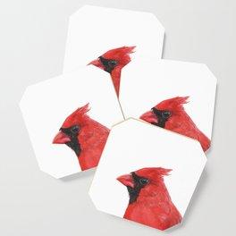 Northern Cardinal portrait Coaster