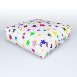 Colorful stars Outdoor Floor Cushion