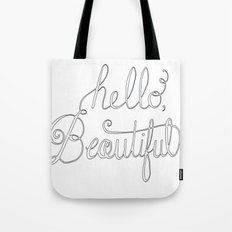 Hello beautiful quote hand-lettered Tote Bag