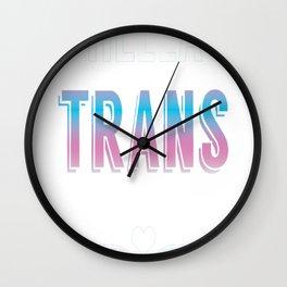 Hella Trans Pride Wall Clock