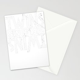 Twins-Since-1972---45th-Birthday-Gifts Stationery Cards
