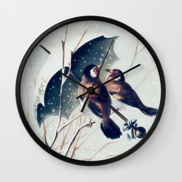 Snow Day - Goldfinch Wall Clock