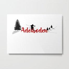 Ski at Adelboden Metal Print