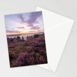 Blooming heather at sunrise | Posbank, Veluwe, The Netherlands (Holland) | Art Print Stationery Cards