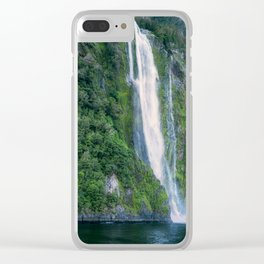 Stirling Falls at Milford Sound Clear iPhone Case