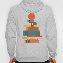 Book stack with a ball Hoody