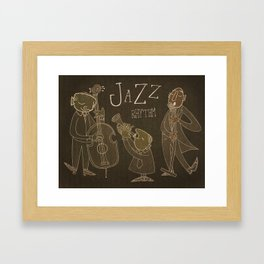 Jazz Rhythm Framed Art Print