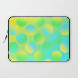 Gradient Polka Dots (Yellow and Green and Blue)! Laptop Sleeve