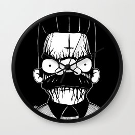 Black Metal Religious Guy Wall Clock