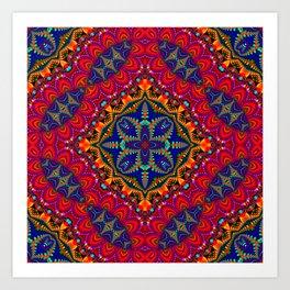 Beautiful colorful Kaleidoscope SB4 Art Print