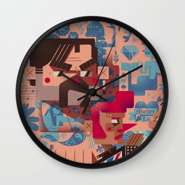 The Illustrated Man Wall Clock