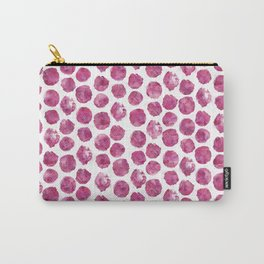 Magenta Watercolor Polka Dots Carry-All Pouch