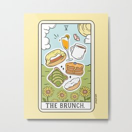 Brunch Reading Metal Print